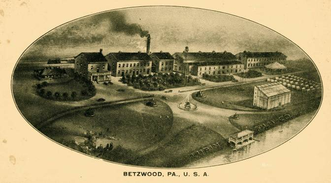 PHOTOS COURTESY BETZWOOD STUDIO ARCHIVES / An envelope created by the Lubin Manufacturing Company featuring the Betzwood Estate.